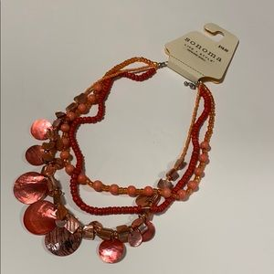 NWT Coral Shell Necklace